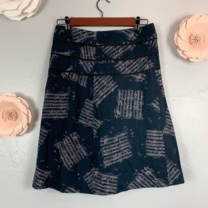 Odille by Anthropologie Navy Skirt M923